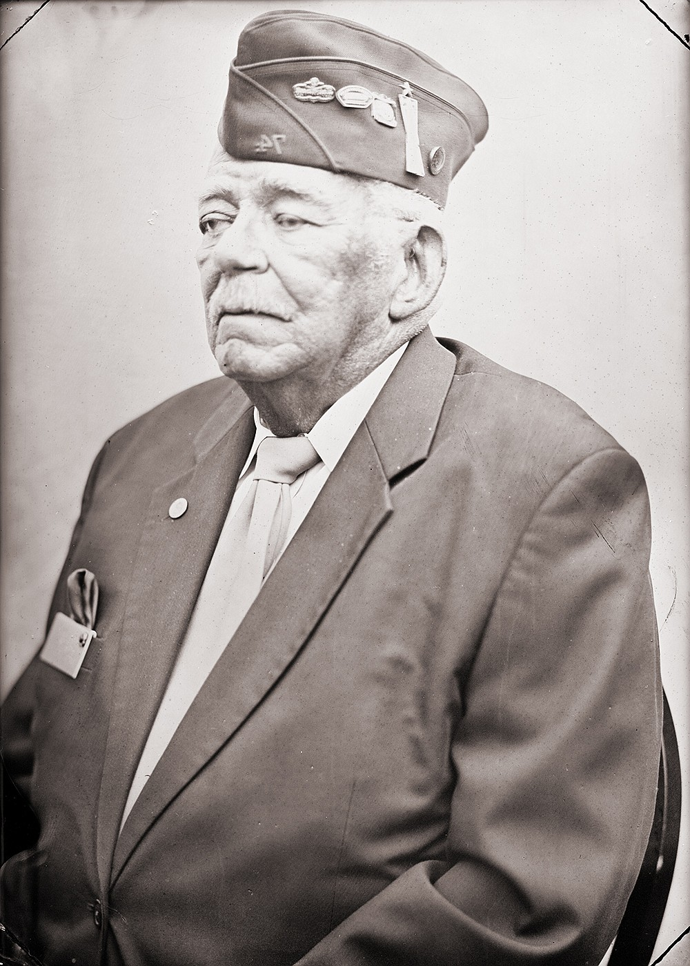 """Veterans Carl C. and Samuel W., photographed by Ed Drew for """"We Hold These Truths: American Veterans in Arkansas,"""" on display at the Mosaic Templars Cultural Center. (Special to the Democrat-Gazette)"""