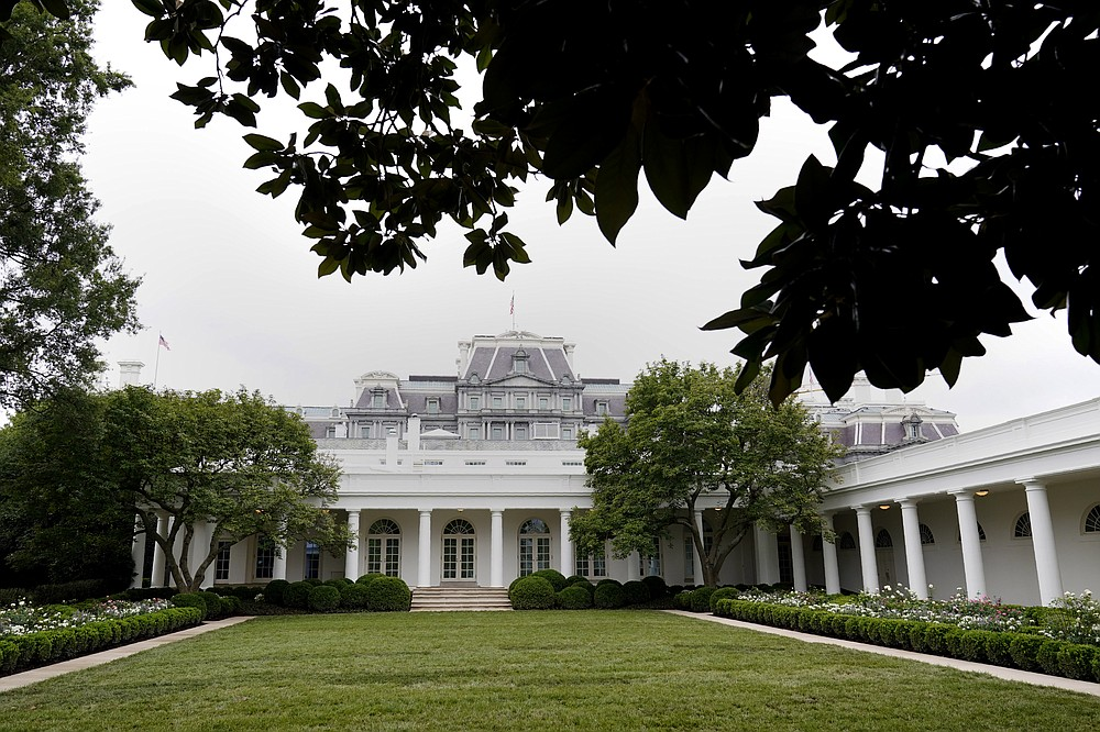 A view of the restored Rose Garden is seen at the White House in Washington, Saturday, Aug. 22, 2020. First Lady Melania Trump will deliver her Republican National Convention speech Tuesday night from the garden, famous for its close proximity to the Oval Office. The three weeks of work on the garden, which was done in the spirit of its original 1962 design, were showcased to reporters on Saturday. (AP Photo/Susan Walsh)
