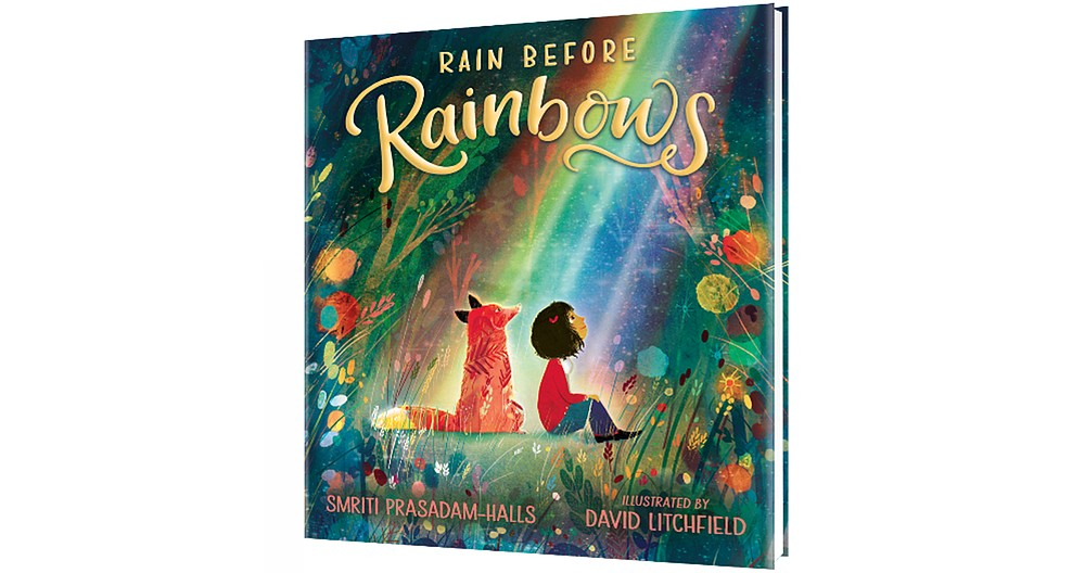 """Rain Before Rainbows"" by Smriti Prasadam-Halls and David Litchfield (Candlewick Press, Oct. 6), ages 3-7, 32 pages, $16.99 hardcover, free digital download until Sept. 30. (photo courtesy Candlewick Press)"