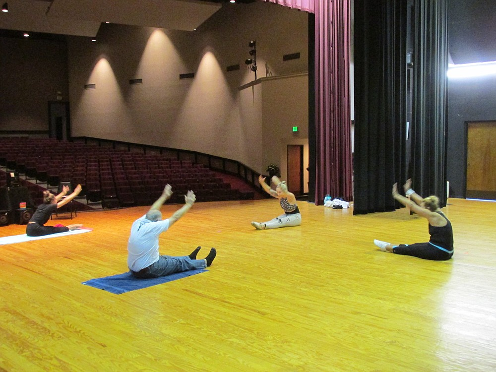 The dance class includes stretches and warm-ups. - Submitted photo