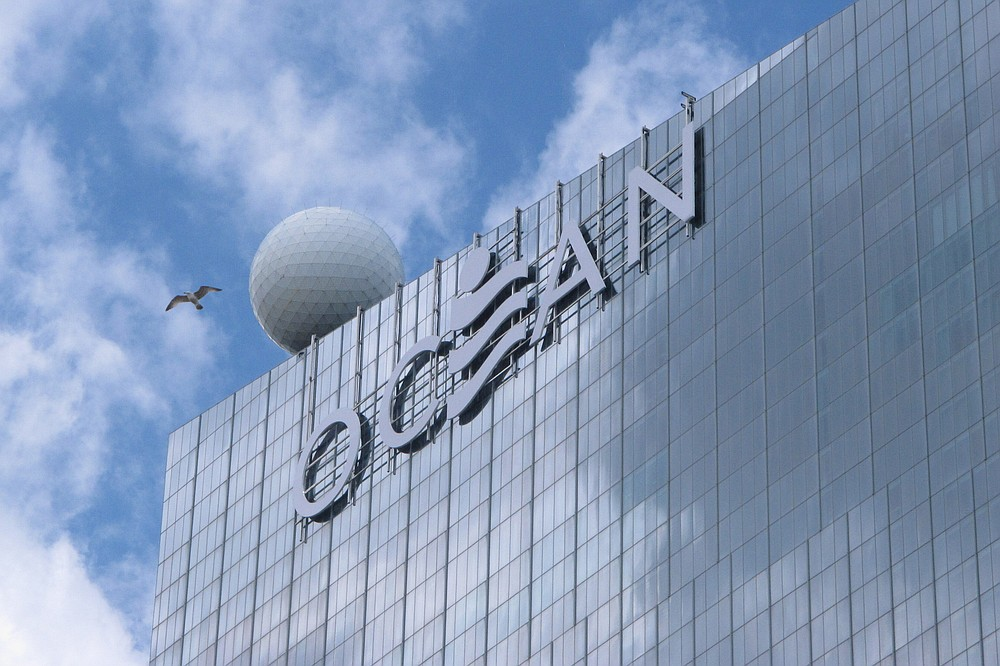 This May 15, 2019 photo shows the exterior of the Ocean Casino Resort in Atlantic City N.J. On Sept. 10, 2020, a federal judge in Nevada ordered a former Borgata casino executive who left to work at the Ocean casino return a cell phone containing valuable information on Borgata's top players and highest-rollers. (AP Photo/Wayne Parry)