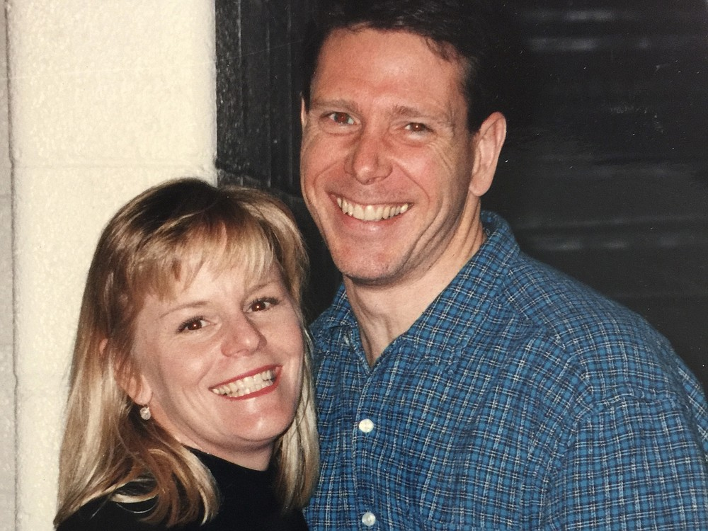Denise and Dan pose in 1997, shortly after the couple met. MUST CREDIT: Photo provided by Dan Goerke