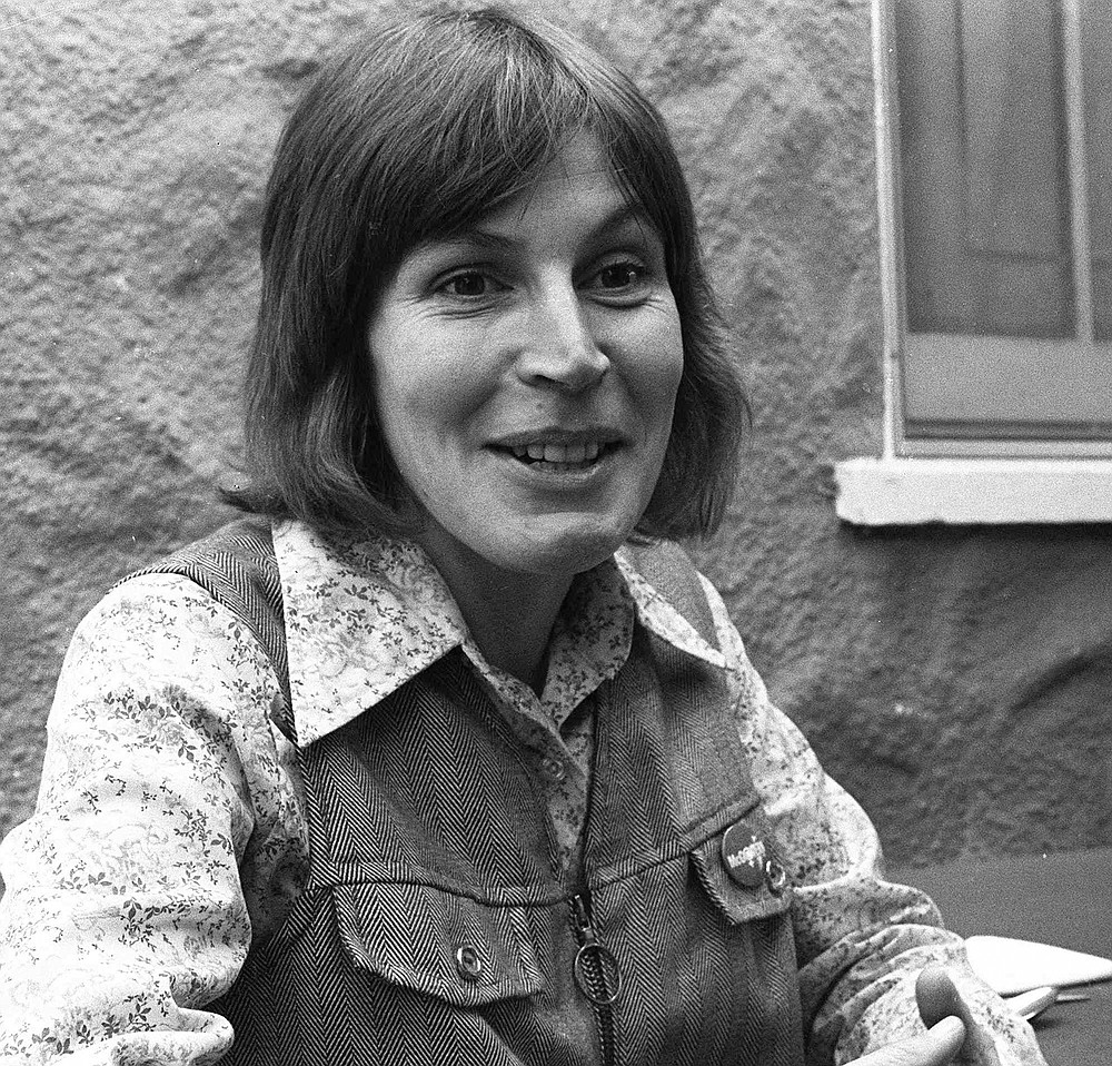 "FILE - In this Oct. 27, 1977, file photo, Ms. Helen Reddy, composer-singer of what has become a marching song for Women's lib, tells of mail she gets from housewives, who say the best-selling record -- ""I Am Woman""--bucks them up. Reddy, the Australian-born singer who scored an enduring hit with her feminist anthem ""I Am Woman,"" has died at 78 in Los Angeles. Reddy's children announced their mother's death Tuesday evening, Sept. 29, 2020, saying that while they are heartbroken, they ""take comfort in the knowledge that her voice will live on forever."" (AP Photo/ilr, File)"