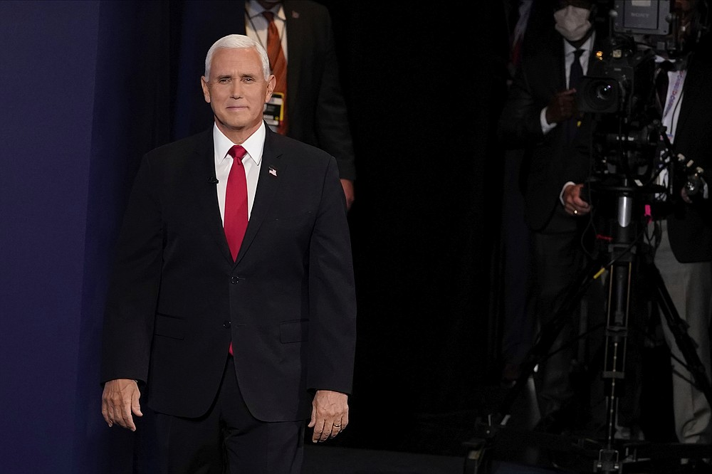 Vice President Mike Pence arrives for the vice presidential debate Wednesday, Oct. 7, 2020, at Kingsbury Hall on the campus of the University of Utah in Salt Lake City. (AP Photo/Morry Gash, Pool)