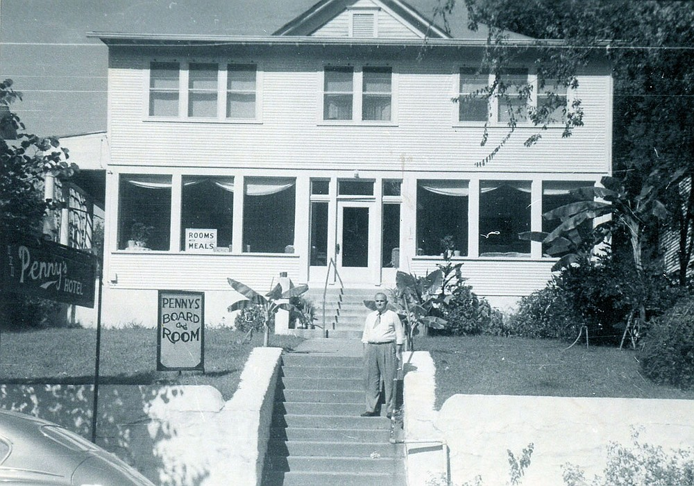 Penny's Hotel, 252 Whittington Ave., shown in the 1950s. - Submitted photo courtesy of Garland County Historical Society