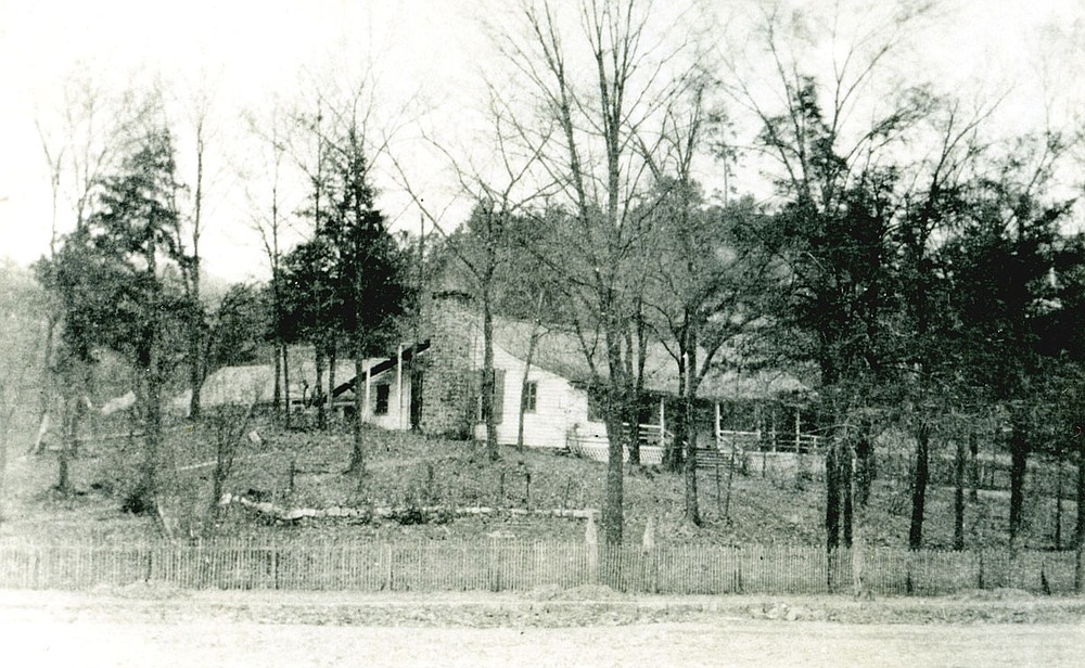 The Whittington Avenue home of Hot Springs pioneer Hiram Whittington (1805-1890) overlooking the junction of Whittington, Central and Park avenues. This was one of the few structures that survived the fires that destroyed Hot Springs during the Civil War.  - Submitted photo courtesy of Garland County Historical Society
