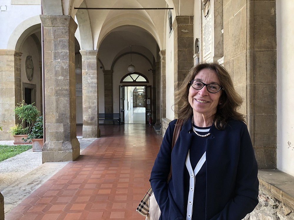 """Donatella Lippi of the University of Florence said she'd studied the plague with the """"distance of a historian"""" until this year, when the world experienced a pandemic of its own. MUST CREDIT: Washington Post photo by Chico Harlan."""