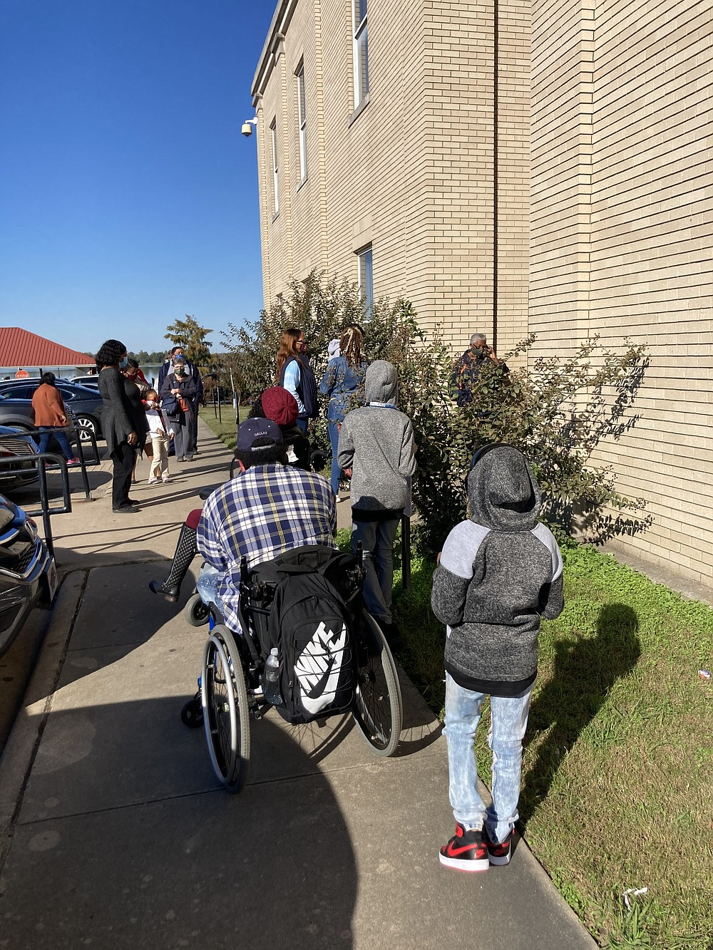 Voters stood in line on Monday to take advantage of the last day of early voting ahead of the General Election today. (Pine Bluff Commercial/Byron Tate)