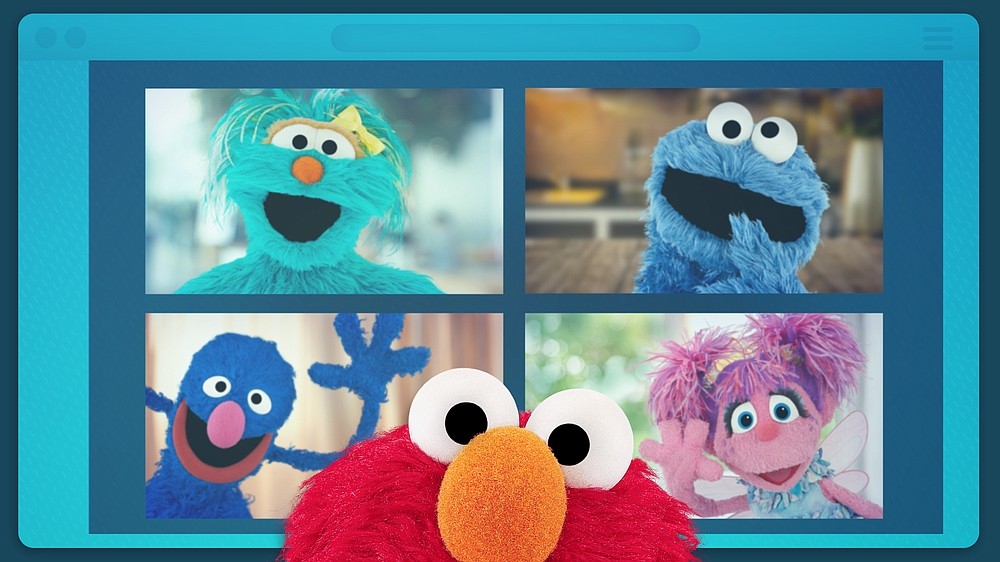 """First aired in April, """"Sesame Street: Elmo's Playdate"""" is a half-hour special that follows Elmo, Grover, Cookie Monster, Abby Cadabby and a few celebrities as they find new ways to play and learn together in the pandemic. (Photo courtesy Sesame Street Workshop)"""