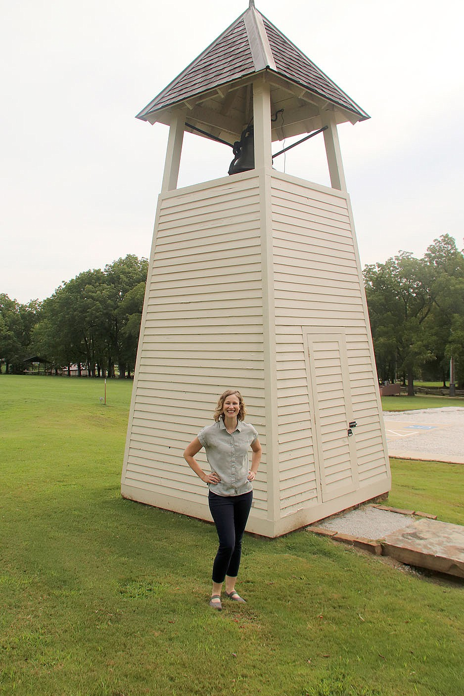 McKuin worked for Preserve Arkansas for eight years, a nonprofit group formerly known as Historic Preservation Alliance of Arkansas, and has been development director with KUAR Public Radio in Little Rock.  (NWA Democrat-Gazette/Lynn Kutter)