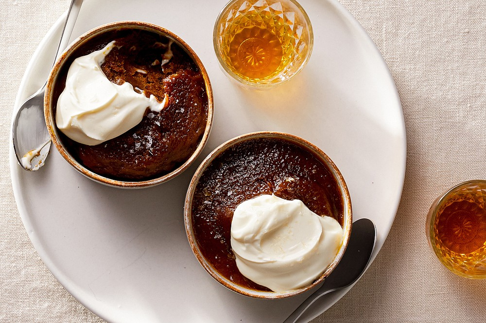 Pumpkin Sticky Toffee Puddings  (The New York Times/Christopher Simpson)