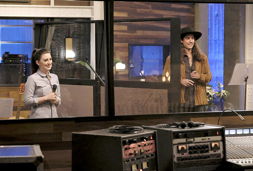 "Trae Patton/NBC Tori Miller (left) and Van Andrew train for the battle rounds on NBC's ""The Voice."" They performed ""Exile"" by Taylor Swift. Andrew was chosen to move on in the competition and Miller was eliminated."