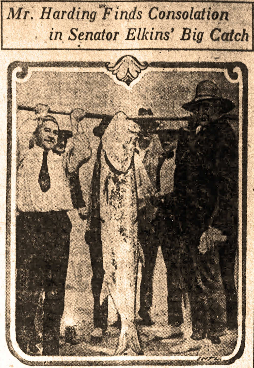 President-elect Warren G. Harding went fishing during his vacation in Texas and Panama, as reported in the Nov. 21, 1920, Arkansas Gazette. (Arkansas Democrat-Gazette)