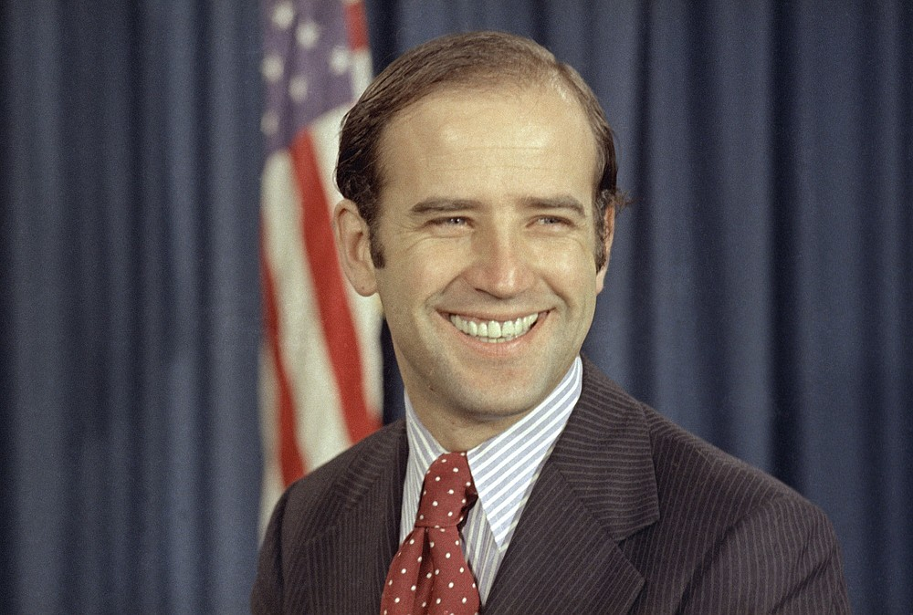 FILE - In this Dec. 13, 1972 file photo, the newly-elected Democratic senator from Delaware, Joe Biden, is shown on Capitol Hill in Washington. President-elect Biden turns 78 on Friday, Nov. 20, 2020. (AP Photo, File)