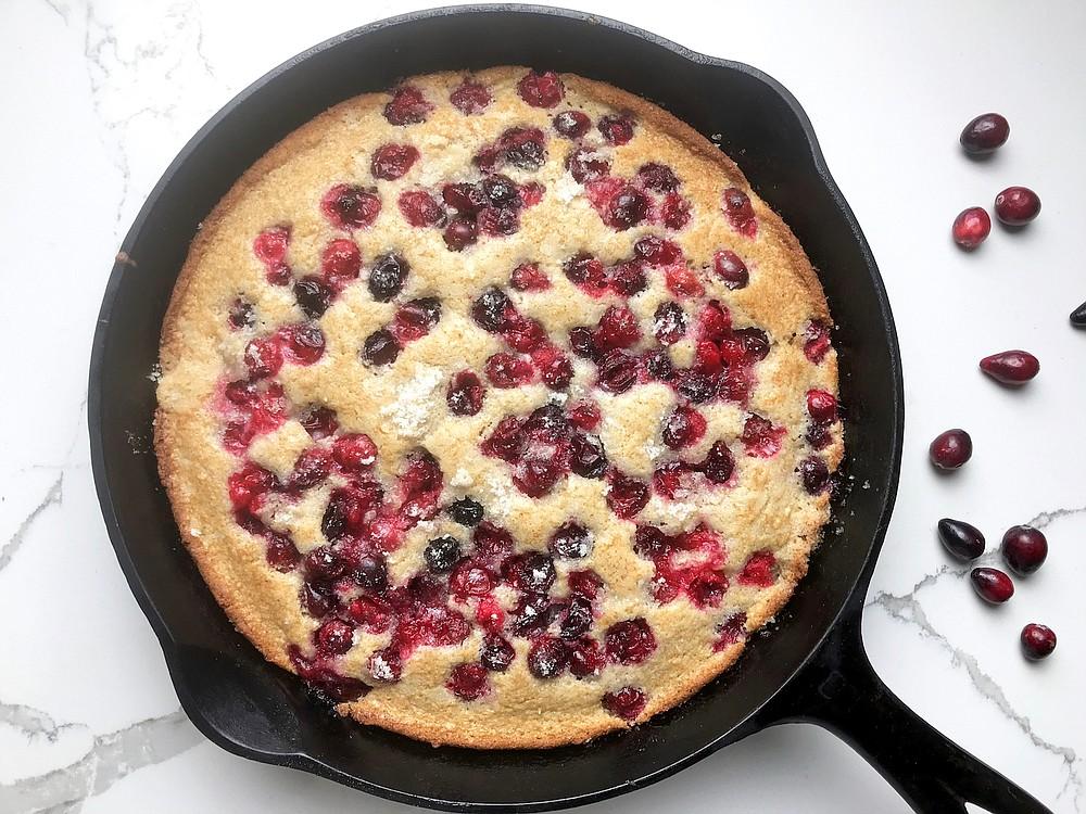 Cranberry Almond Skillet Cake (Arkansas Democrat-Gazette/Kelly Brant)