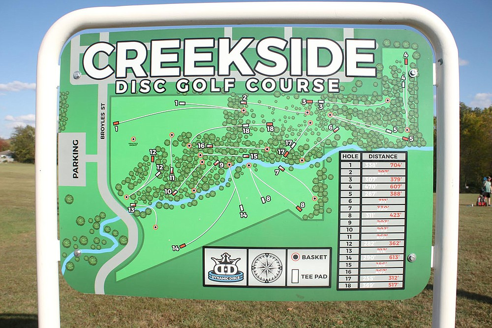 LYNN KUTTER ENTERPRISE-LEADER The city of Farmington opened the 18-hole Creekside Disc Golf Course in ??? It has remained open for players throughout the pandemic because it is outside and participants can socially distance from each other.