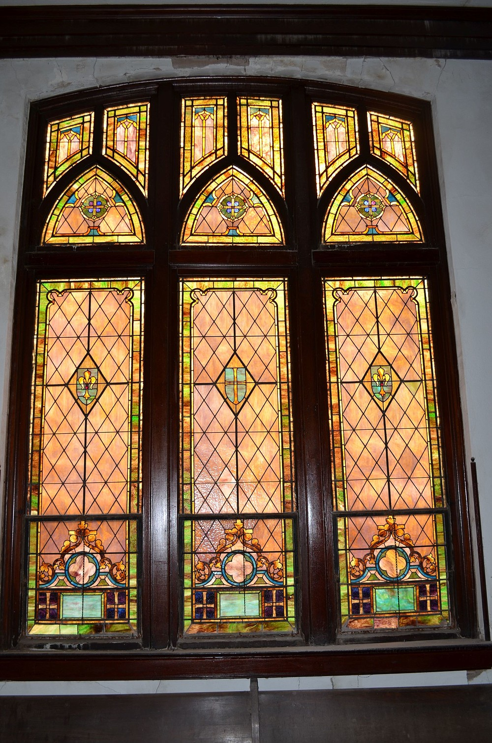 The church's stained glass windows at The Pres were constructed in Venice, Italy. (Special to The Commercial/Richard Ledbetter)