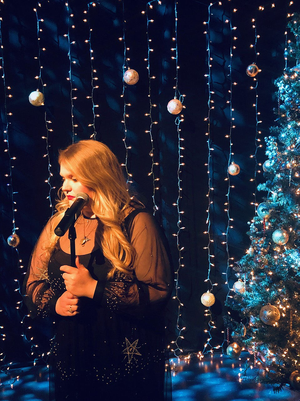 """In addition to some serious vocal performance, Ladner will host a crafting segment for Pilot Arts' """"Holidays At Home: A Virtual Variety Show.""""  (Courtesy Photo/Patti Webb for Pilot Arts)"""