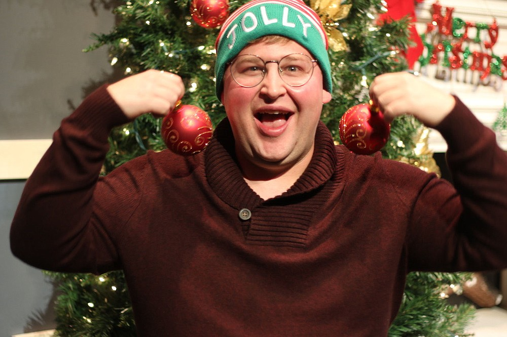 """Chad Burris, from Alma, and Katie Ladner, from Jackson, Miss., will co-host a virtual holiday variety show for Pilot Arts. Burris had just finished a run playing Olaf in the Broadway hit """"Frozen,"""" and he was two days into a new role as Damian in """"Mean Girls"""" when covid-19 hit. Ladner was workshopping a play bound for Broadway. Both ended up sheltering with their families during the hiatus.  (Courtesy Photo/Patti Webb for Pilot Arts)"""
