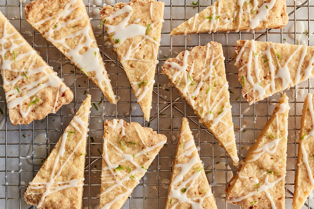 Cornmeal Lime Shortbread (The New York Times/Johnny Miller)