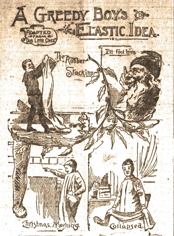A greedy boy's plan to snooker Santa falls flat in this illustration from the Dec. 24, 1893, Arkansas Gazette. (Arkansas Democrat-Gazette)