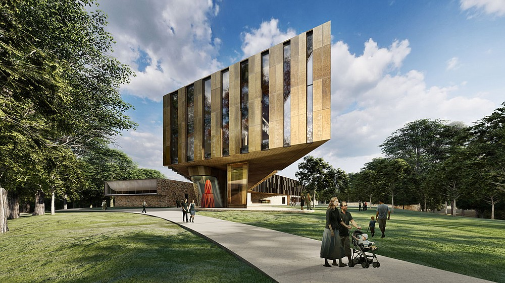 Northwest view of the Whole Health Institute. (Courtesy Photos/Marlon Blackwell Architects)