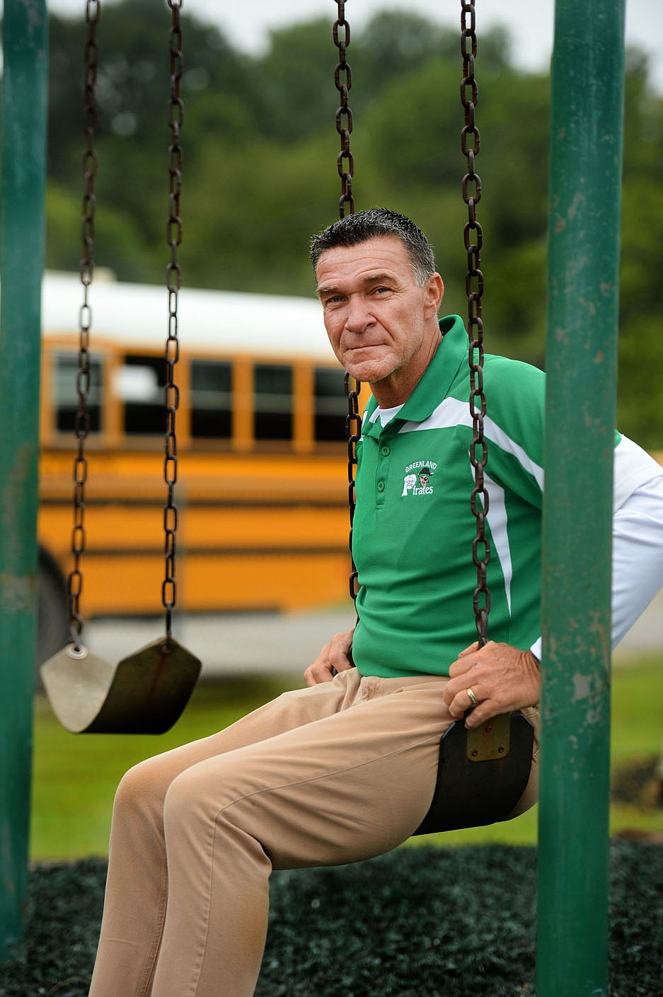 Alan Barton has served as principal at Greenland Elementary School since 1988. Visit nwaonline.com/200920Daily/ for today's photo gallery.  (NWA Democrat-Gazette/Andy Shupe)