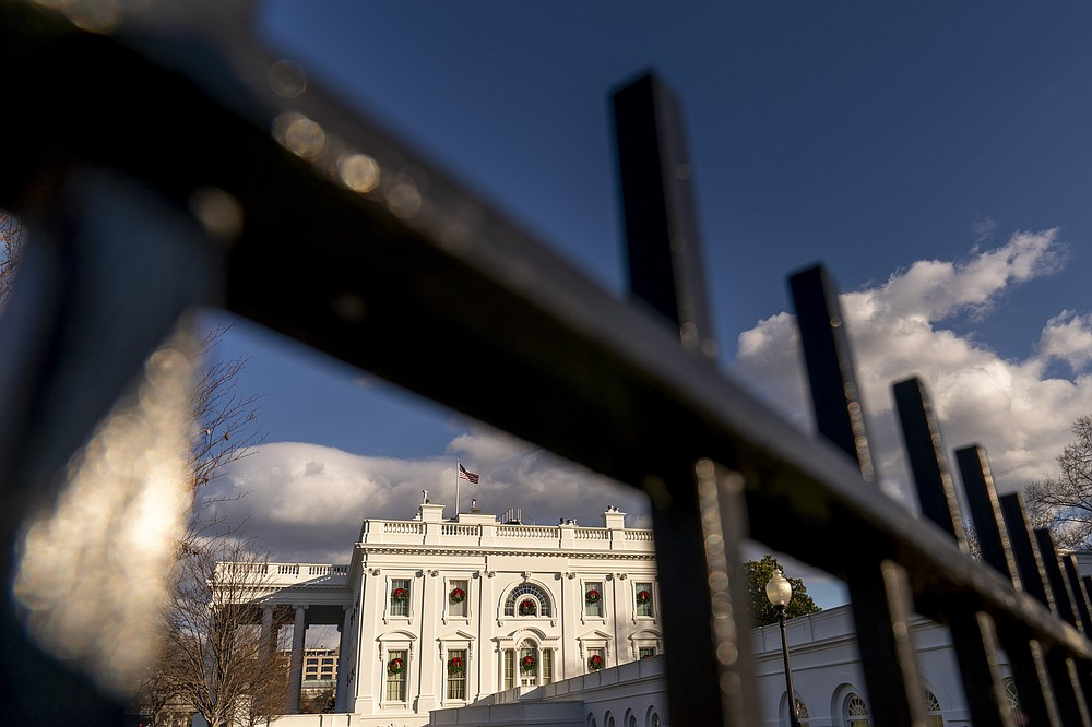 A view of the White House, Tuesday, Dec. 22, 2020, in Washington. (AP Photo/Andrew Harnik)