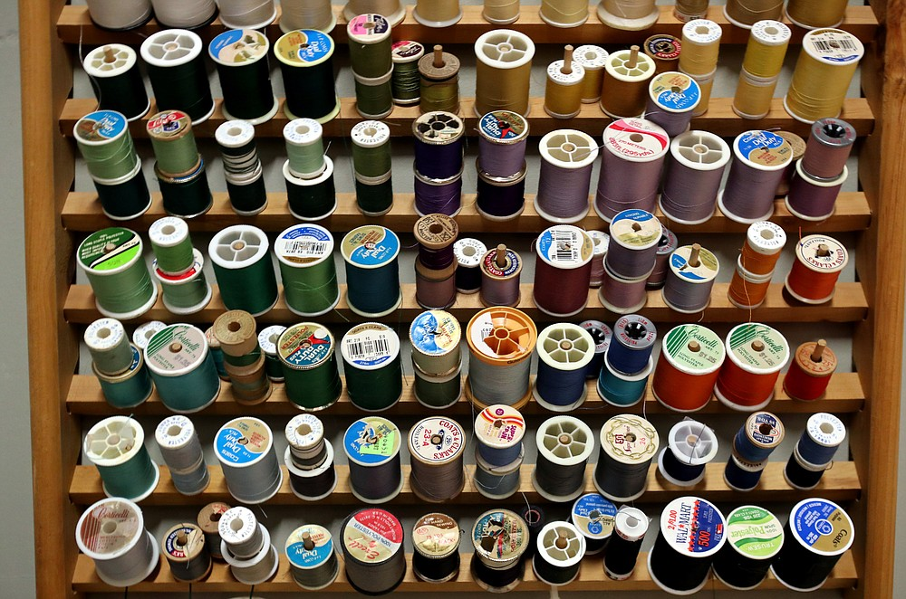 Spools of thread are stocked at Emergent Arts, which will be accessible around the clock to members. - Photo by Richard Rasmussen of The Sentinel-Record
