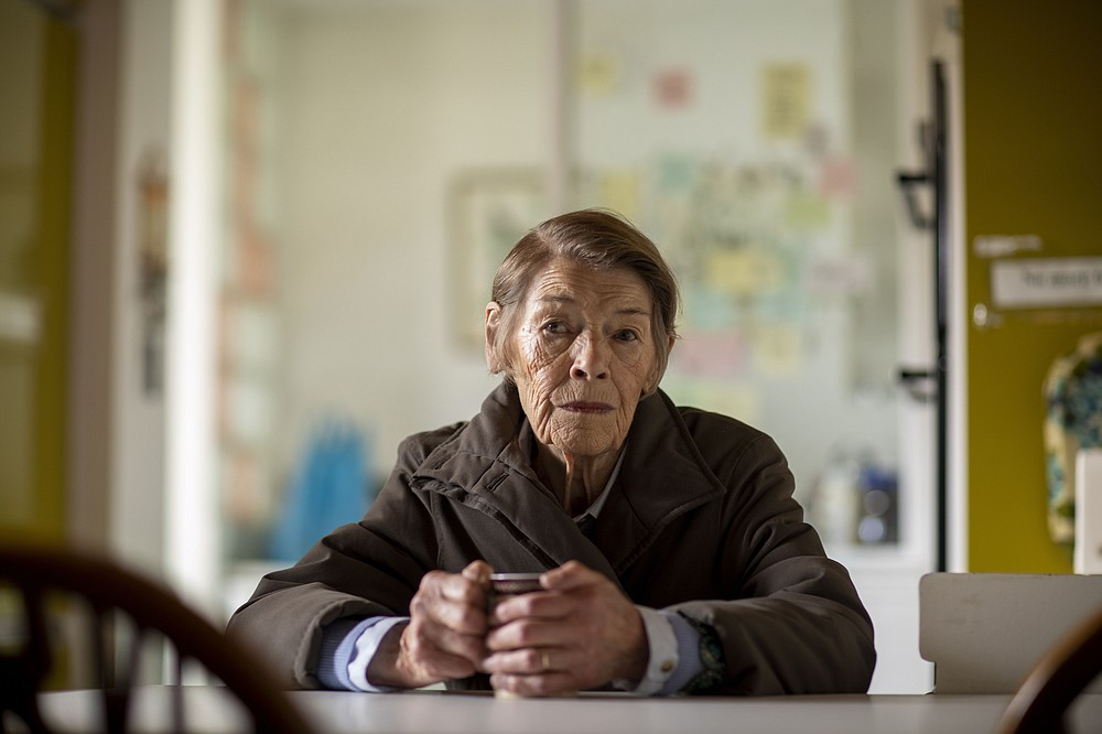 """This photo provided by PBS show Glenda Jackson in a scene from """"Elizabeth Is Missing.""""  Only one project lured the two-time Academy Award winner back to the screen after an absence of 25 years: """"Elizabeth Is Missing."""" The BBC film is a mystery but so much more — a powerful and moving look at dementia. Jackson plays a woman lost in the fog between the past and present. (Marsaili Mainz/STV Productions/PBS via AP)"""