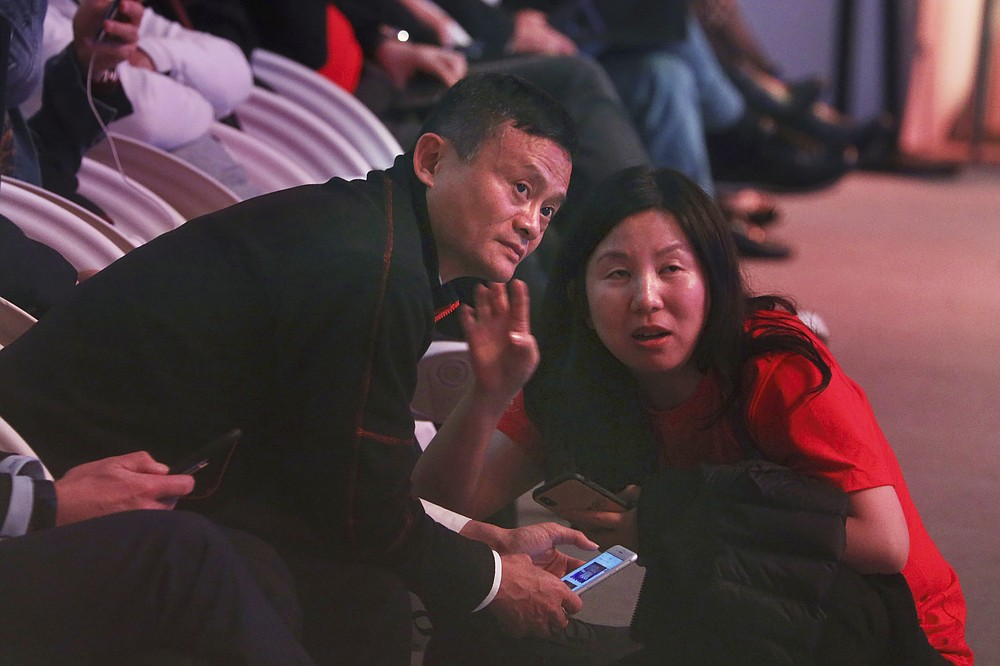Jack Ma, founder of Alibaba attends the Alibaba's 11.11 Global Shopping Festival held in Shanghai, China, early Sunday, Nov. 11, 2018. Ma hasn't been seen since he angered regulators with an October 2020 speech. That is prompting speculation about what might happen to the billionaire founder of the world's biggest e-commerce company. (AP Photo/Ng Han Guan)