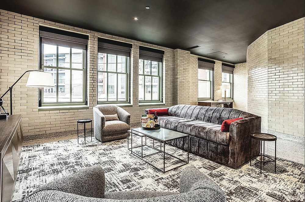 Exposed white brick walls remind visitors of the building's past industrial life.  (Courtesy photo)