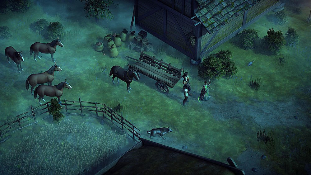 """A player's team does battle across a land of sword and sorcery in """"Pathfinder: Kingmaker.""""  (Owlcat Games/Deep Silver)"""