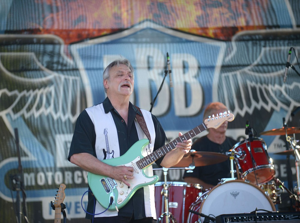 NWA Democrat-Gazette/ANDY SHUPE Longtime blues guitarist Gary Hutchison of Fort Smith performs Saturday, Sept. 29, 2018, during the 19th annual Bikes, Blues & BBQ motorcycle rally in Fayetteville. Visit nwadg.com/photos to see more photographs.