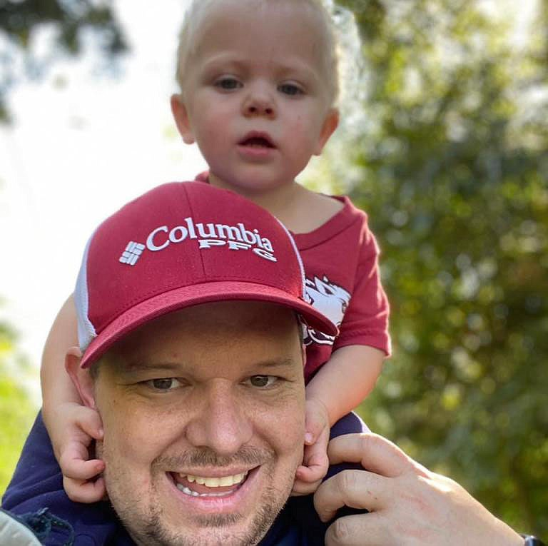 James Bryan plays with his 2-year-old son, Thomas.  (Courtesy Photo/James Bryan)