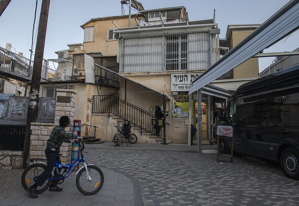 The home of Rabbi Chaim Kanievsky, whose pronouncements have made him one of the most controversial figures in Israel today, in Bnei Brak, Israel, Jan. 24, 2021. Kanievsky is the spiritual authority for hundreds of thousands of ultra-Orthodox Jews, but his pronouncements on the coronavirus have made him a villain to many. (Dan Balilty/The New York Times)