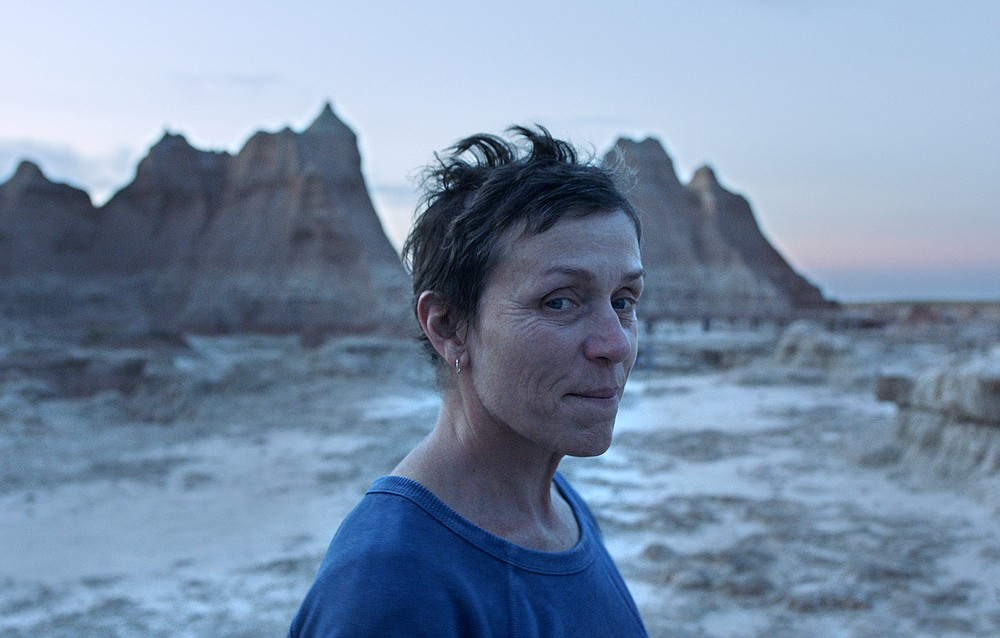 "This image released by Searchlight Pictures shows Frances McDormand in a scene from the film ""Nomadland."" (Searchlight Pictures via AP)"