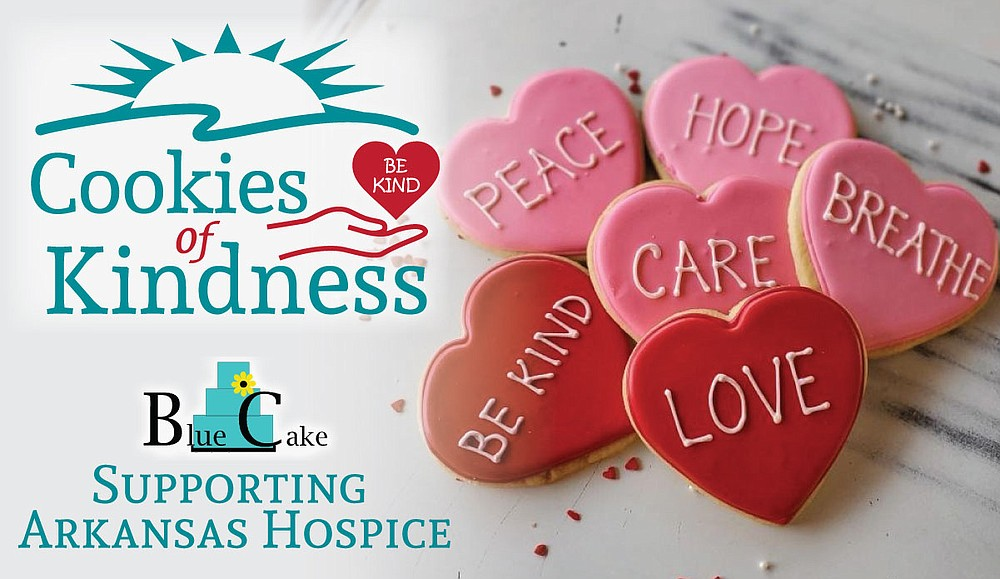 "Blue Cake Company is donating a portion of the proceeds from the sale of its ""Cookies of Kindness"" to Arkansas Hospice. (Special to the Democrat-Gazette)"