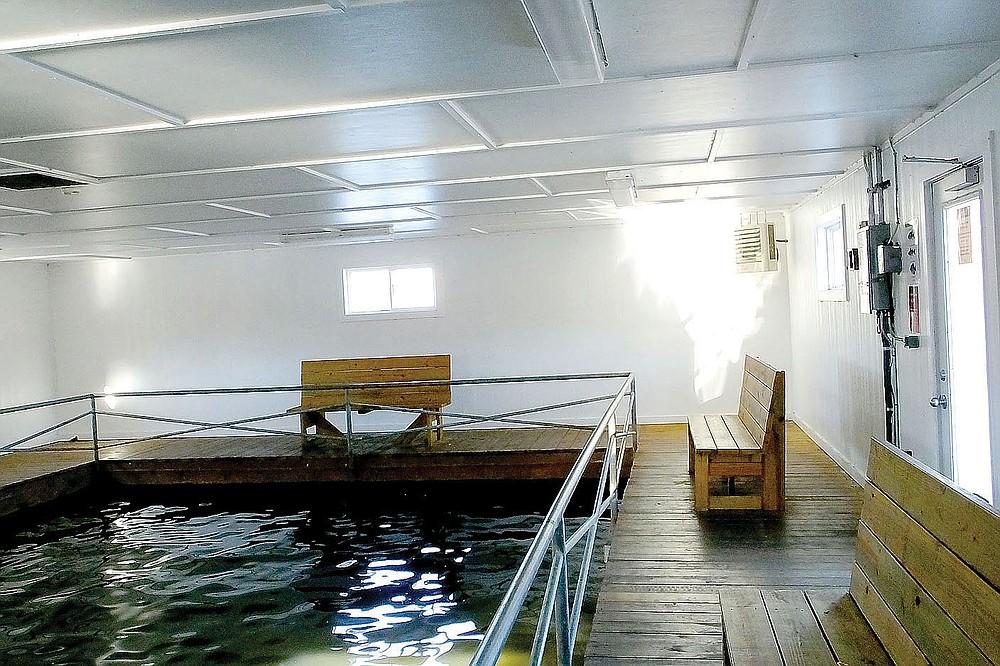 Lynn Atkins/File Photo The heated dock on Lake Avalon in Bella Vista.