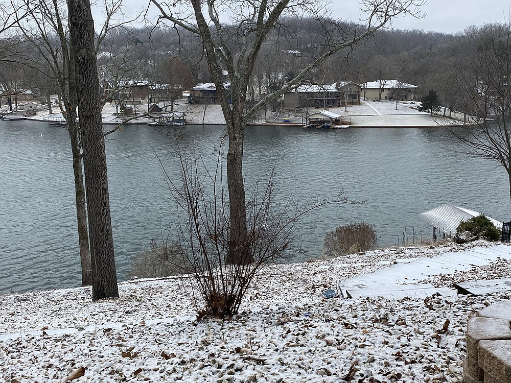 Terri O'Byrne/Weekly Vista Friday morning brings a light snow early morning laying a light white blanket.