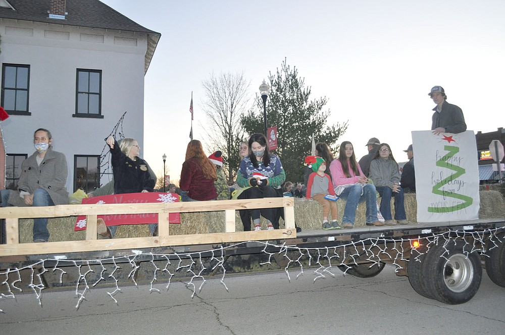FILE PHOTO The McDonald County High School FFA float appeared in the Pineville Christmas parade on Dec. 5, 2020.