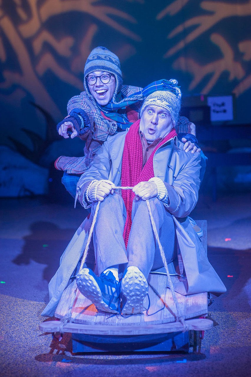 "Antonio Romero Jr. (left) plays Frog to Bryce Kemph's Toad in Trike Theatre's production of the musical ""A Year With Frog and Toad"" in February 2020.  (Courtesy photo)"