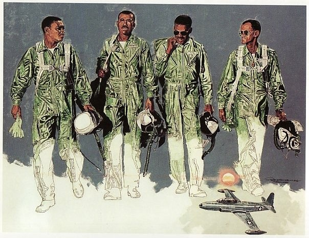 Roy LaGrone made it a life-long project to tell the little-known stories about the nation's black pilots through his paintings. (Special to The Commercial)
