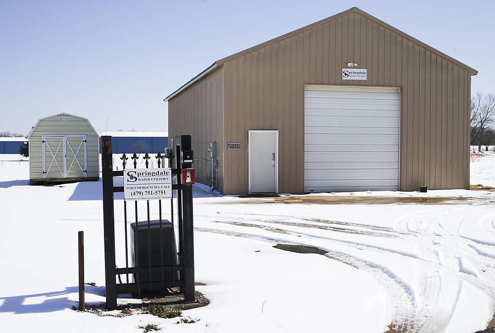 The former Bethel Heights water utilities building is shown, Saturday, February 20, 2021 in Springdale. Check out nwaonline.com/210221Daily/ for today's photo gallery.  (NWA Democrat-Gazette/Charlie Kaijo)
