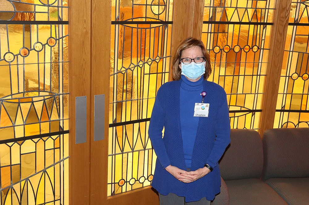 Jayne Barnes, a chaplain at the Billings Clinic in Montana, was diagnosed with the coronavirus last fall and has since recovered. MUST CREDIT: Zach Benoit