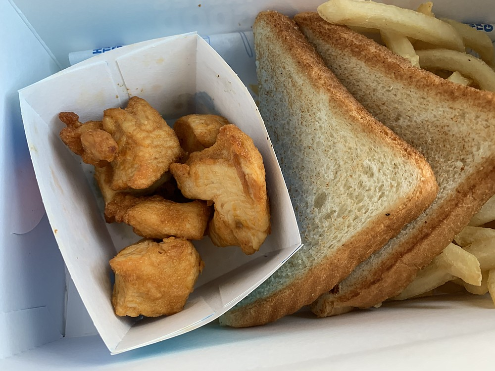 DQ's Rotisserie-Style Chicken Bites aren't very exciting, but at least they aren't fried. (Arkansas Democrat-Gazette/Eric E. Harrison)