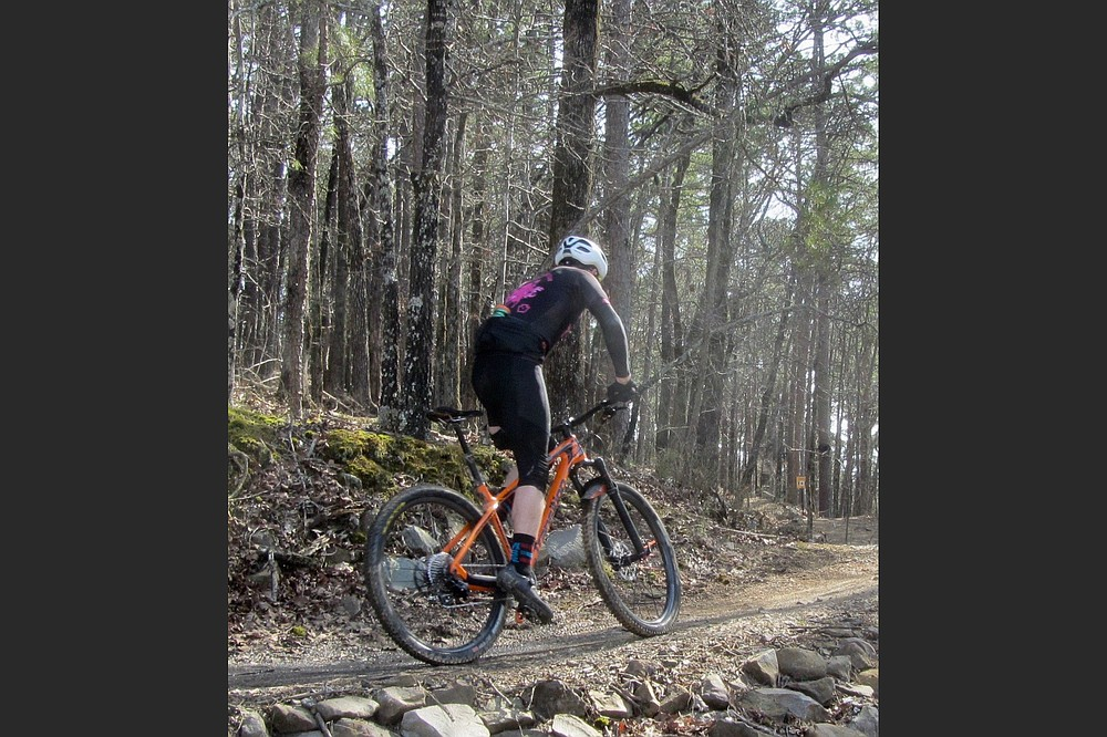 Bicyclists are the prime audience for Pinnacle Mountain's Monument Trails. (Special to the Democrat-Gazette/Marcia Schnedler)