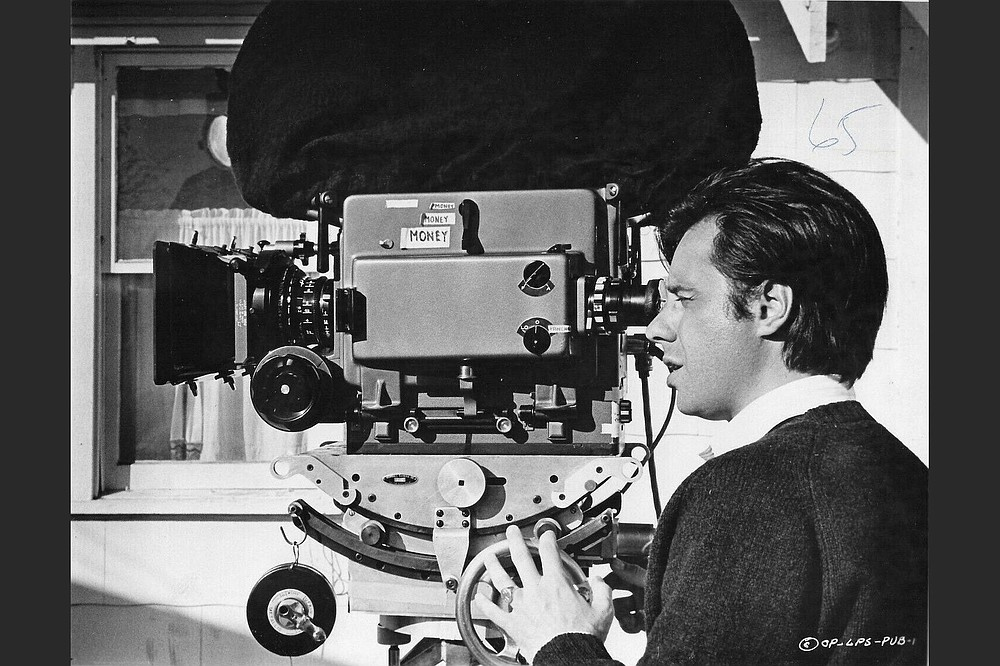 """Peter Bogdanovich on the set of """"The Last Picture Show."""""""