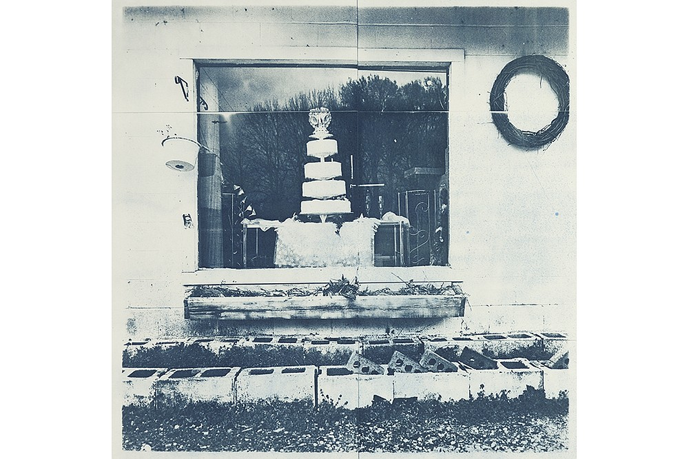 """Delta Wedding Cake,"" 2014 cyanotype by Beverly Buys, is part of ""Evocations From the Arkansas Delta, 2011-2021,"" on display Monday-April 23 in the Focus Gallery, Windgate Center for Art + Design, at the University of Arkansas at Little Rock. (Special to the Democrat-Gazette)"