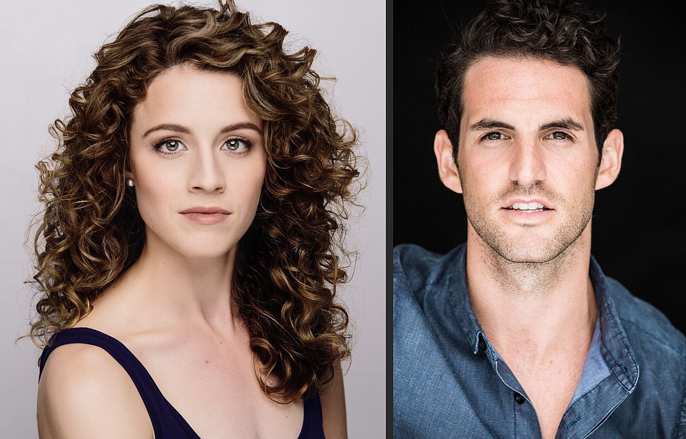 "Actors Eryn LeCroy and John Riddle, who have performed as Christine Daae and Raoul in ""The Phantom of the Opera"" on Broadway, are bringing ""A Natural State of Mind — From New York to Arkansas,"" an evening of show tunes, April 17 to Fayetteville's Walton Arts Center. (Special to the Democrat-Gazette)"